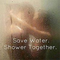 Shower bath together with escort
